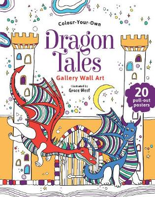 Colour Your Own Dragon Tales Gallery Wall Art by Grace West