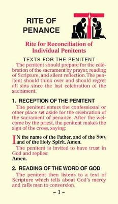 Rite of Penance Card for the People by International Commission on English in the Liturgy