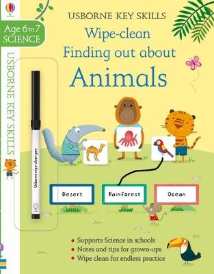 Wipe-Clean Finding Out About Animals 6-7 by Hannah Watson