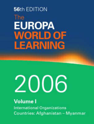 Europa World of Learning by Europa Publications