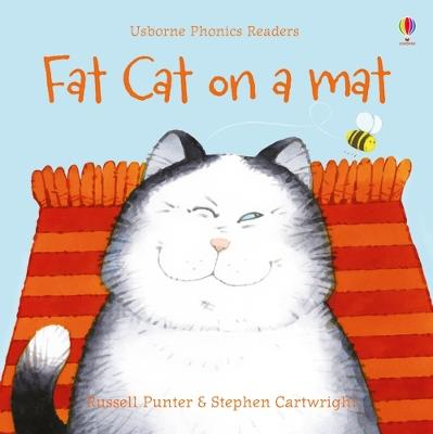 Fat cat on a mat by Russell Punter