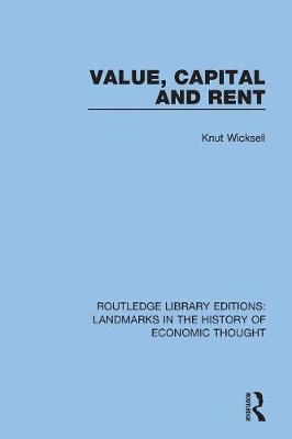 Value, Capital and Rent book