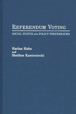 Referendum Voting by Sheldon Kamieniecki