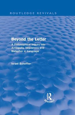 Beyond the Letter book
