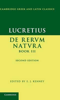 Lucretius: De Rerum NaturaBook III by Lucretius