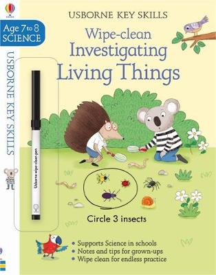 Wipe-Clean Investigating Living Things 7-8 book
