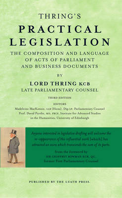 Thring's Practical Legislation by Henry Thring