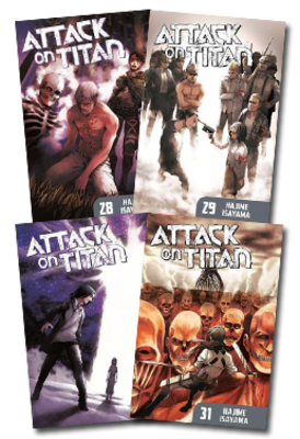 Attack On Titan Volumes 28-31 Set of 4 by null