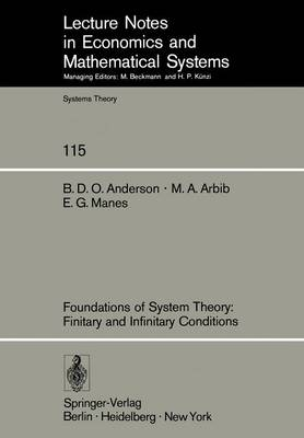 Foundations of System Theory: Finitary and Infinitary Conditions by Brian Anderson