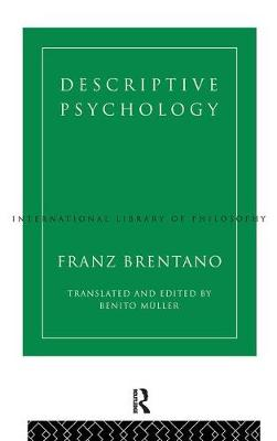 Descriptive Psychology by Franz Brentano