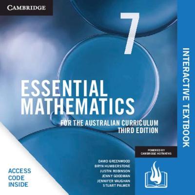 Essential Mathematics for the Australian Curriculum Year 7 Digital Card by David Greenwood