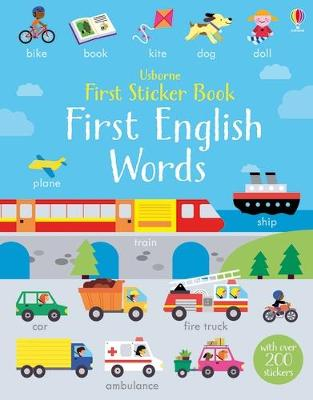First Sticker Book First English Words by Kirsteen Robson
