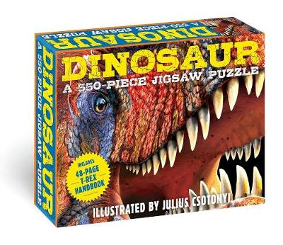 Dinosaurs: 550-Piece Jigsaw Puzzle & Book: A 550-Piece Family Jigsaw Puzzle Featuring the T-Rex Handbook! book