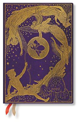 2022 Violet Fairy, Midi (Wk at a Time-Vertical) Diary: Hardcover, Vertical Layout, 100 gsm, elastic closure book