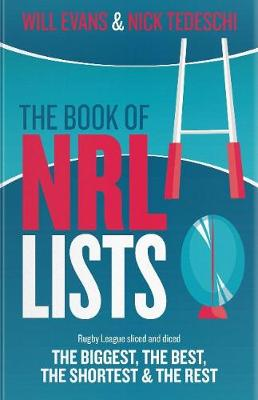 The Book of NRL Lists by Will Evans