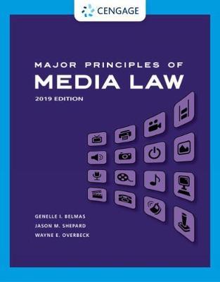 Major Principles of Media Law: 2019 Edition book
