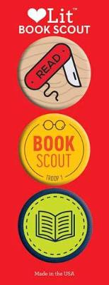 Book Scout 3-Button Assortment by Gibbs Smith Publisher