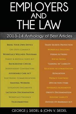Employers and the Law by George J Siedel