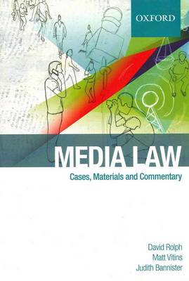 Media Law: Cases & Commentary by Judith Bannister