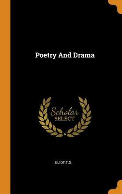 Poetry and Drama book