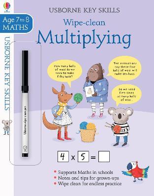 Wipe-Clean Multiplying 7-8 book