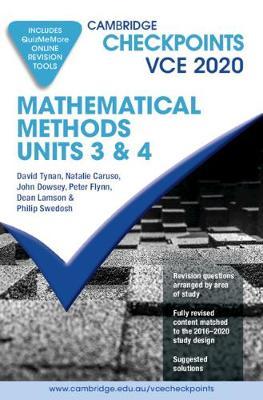 Cambridge Checkpoints VCE Mathematical Methods Units 3&4 2020 book