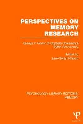 Perspectives on Memory Research book