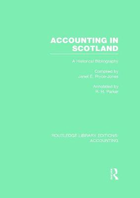 Accounting in Scotland by Janet E. Pryce-Jones