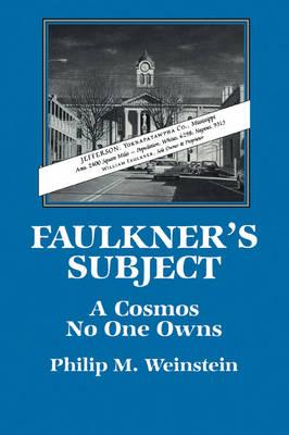 Faulkner's Subject book