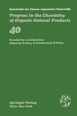 Fortschritte der Chemie organischer Naturstoffe / Progress in the Chemistry of Organic Natural Products by P.A. Cadby