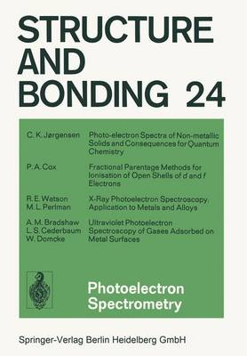 Photoelectron Spectrometry by P. A. Cox