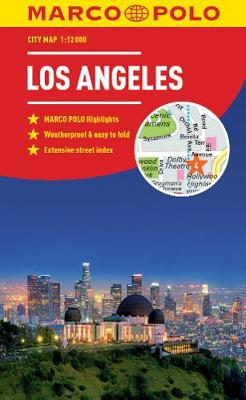 Los Angeles Marco Polo City Map 2018 - pocket size, easy fold, Los Angeles street map by Marco Polo