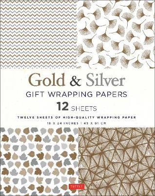 Silver & Gold Gift Wrapping Papers - 12 Sheets book