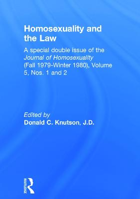 Homosexuality and the Law by