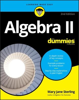 Algebra II For Dummies by Mary Jane Sterling