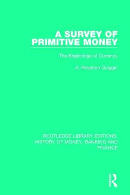 Survey of Primitive Money book