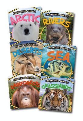 Endangered Animals Set of 6 Books by Emilie Dufresne