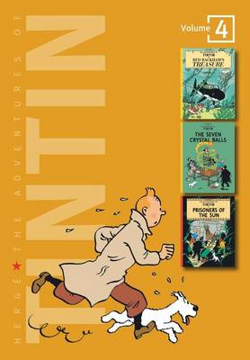 Adventures of Tintin 4 Complete Adventures in 1 Volume WITH The Seven Crystal Balls AND Prisoners of the Sun by Herge
