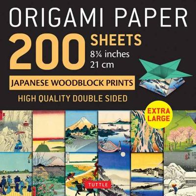 "Origami Paper 200 sheets Japanese Woodblock Prints 8 1/4"": Extra Large Tuttle Origami Paper: High-Quality Double Sided Origami Sheets Printed with 12 Different Prints (Instructions for 6 Projects Included) by Tuttle Publishing"