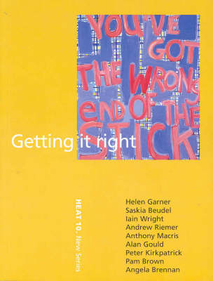 Getting it Right by Ivor Indyk