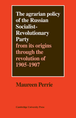 Agrarian Policy of the Russian Socialist-Revolutionary Party book