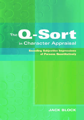 Q-sort in Character Appraisal book
