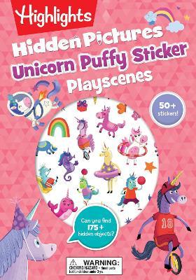 Unicorn Puffy Sticker Playscenes book
