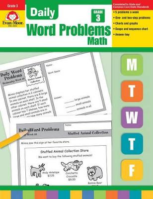 Daily Word Problems Grade 3 by Evan-Moor Educational Publishers