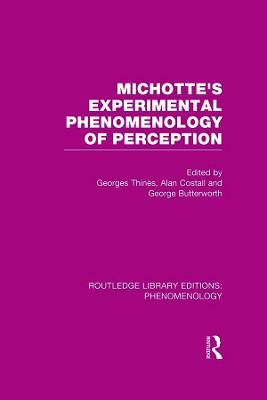 Michotte's Experimental Phenomenology of Perception book