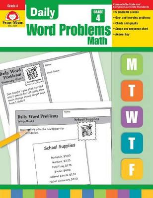 Daily Word Problems Grade 4. by Evan-Moor Educational Publishers