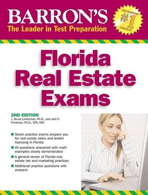Barron's Florida Real Estate Exams by J Bruce Lindeman