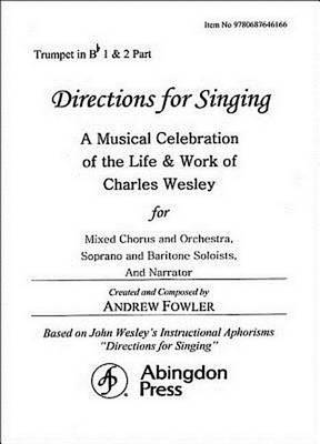 Directions for Singing - Trumpet 1 & 2 by Andrew J Fowler