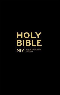 NIV Thinline Black Hardback Bible book