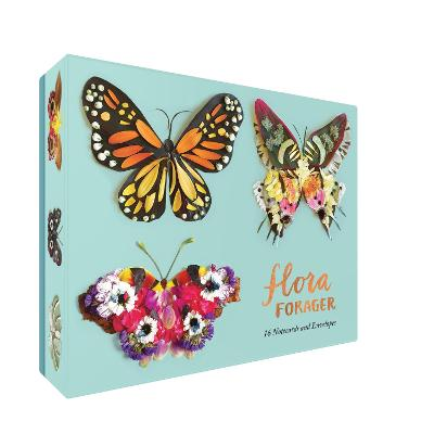Flora Forager Butterfly Notecards by Bridget Beth Collins